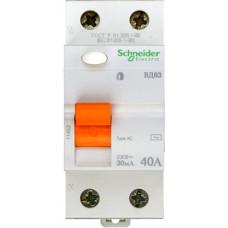 Выключатель дифференциальный (УЗО) ВД63 2п 40А 30мА тип AC | 11452 | Schneider Electric