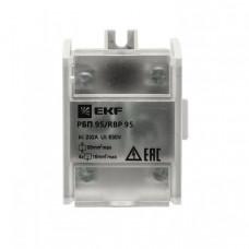 Распределительный блок проходной РБП 95 (1х95 - 4х16 мм2) 232/100 А EKF PROxima | RBP-95-100 | EKF