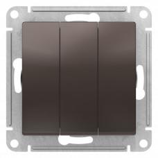 AtlasDesign Мокко Выключатель 3-клавишный сх.1+1+1, 10АХ, механизм | ATN000631 | Schneider Electric