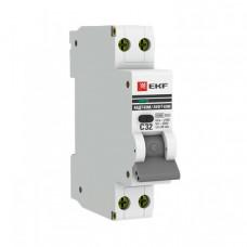 Выключатель автоматический дифференциальный АВДТ-63М 1п+N 6А C 30мА тип AС (1 мод) PROxima (электронный) | DA63M-6-30 | EKF