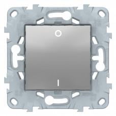 Unica New Алюминий Выключатель 1-клавишный, двухполюсный, сх. 2, 16 AX, 250В | NU526230 | Schneider Electric