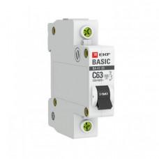 Выключатель автоматический однополюсный ВА 47-29 50А C 4,5кА Basic | mcb4729-1-50C | EKF