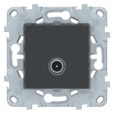 Unica New Антрацит Розетка TV, проходная | NU546354 | Schneider Electric