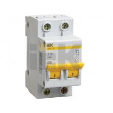 Выключатель автоматический двухполюсный ВА47-29 63А C 4,5кА   MVA20-2-063-C   IEK