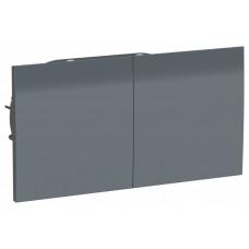 AtlasDesign Грифель Розетка с/з двойная, со шторками, с крышкой, 16А, (в сборе с рамкой)   ATN000728   Schneider Electric