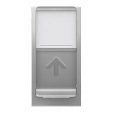 Unica Modular Алюминий Розетка компьютерная, RJ45, одиночная кат. 6 UTP, 1 мод. | NU341430 | Schneider Electric