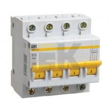 Выключатель автоматический четырехполюсный ВА47-29 3А C 4,5кА   MVA20-4-003-C   IEK