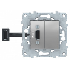 Unica New Алюминий Розетка HDMI | NU543030 | Schneider Electric