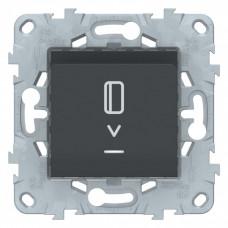Unica New Антрацит Выключатель карточный, с подсветкой, 10А | NU528354 | Schneider Electric
