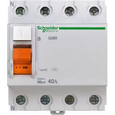 Выключатель дифференциальный (УЗО) ВД63 4п 40А 100мА тип AC | 11464 | Schneider Electric