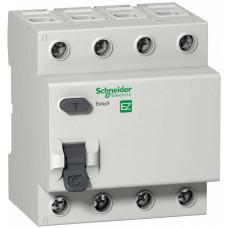 Выключатель дифференциальный (УЗО) EASY 9 4п 25А 30мА тип AC   EZ9R34425   Schneider Electric