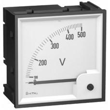 ВОЛЬТМЕТР АНАЛОГОВЫЙ 0-500В 72Х72 | 16005 | Schneider Electric