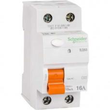 Выключатель дифференциальный (УЗО) ВД63 2п 16А 10мА тип AC | 11454 | Schneider Electric