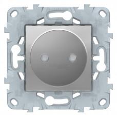 Unica New Алюминий Розетка б/з со шторками, винт. зажим, 16 А | NU503330 | Schneider Electric