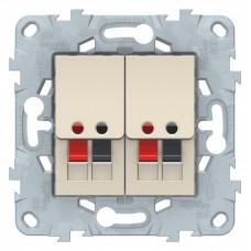 Unica New Бежевый Аудиорозетка двойная | NU548944 | Schneider Electric