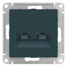 AtlasDesign Изумруд Розетка двойная компьютерная RJ45+RJ45, кат.5E, механизм | ATN000885 | Schneider Electric