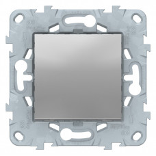 Unica New Алюминий Выключатель 1-клавишный, сх. 1, 10 AX, 250В | NU520130 | Schneider Electric