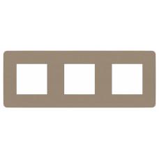Unica Studio Color Песочный/Белый Рамка 3-ая | NU280626 | Schneider Electric