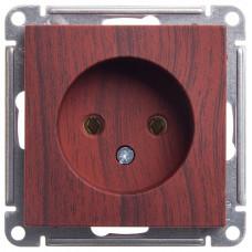 Wessen 59 Морёный дуб Розетка б/з без шторок, 16А | RS16-153-9-86 | Schneider Electric