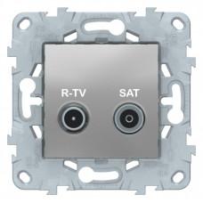 Unica New Алюминий Розетка R-TV/SAT, оконечная | NU545530 | Schneider Electric