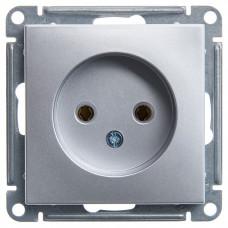 Wessen 59 Матовый хром Розетка б/з без шторок, 16А | RS16-153-5-86 | Schneider Electric