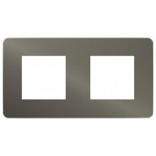 Unica Studio Color Никель/Антрацит Рамка 2-ая | NU280453 | Schneider Electric