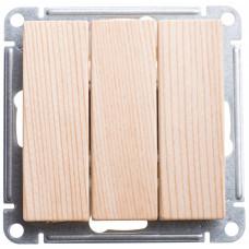 Wessen 59 Сосна Выключатель 3-клавишный, 10АХ | VS0510-351-7-86 | Schneider Electric