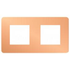 Unica Studio Color Медь/Белый Рамка 2-ая | NU280457 | Schneider Electric