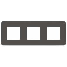 Unica Studio Color Дымчато-серый/Белый Рамка 3-ая | NU280621 | Schneider Electric