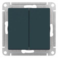 AtlasDesign Изумруд Переключатель 2-клавишный сх.6, 10АХ, механизм | ATN000865 | Schneider Electric