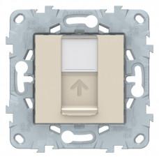Unica New Антрацит Розетка компьютерная, RJ45, одиночная кат. 6 UTP | NU541554 | Schneider Electric