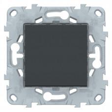 Unica New Антрацит Выключатель 1-клавишный, сх. 1, 10 AX, 250В | NU520154 | Schneider Electric