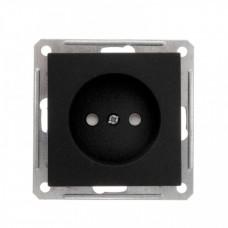 Wessen 59 Черный бархат Розетка б/з | RS16-151-6-86 | Schneider Electric