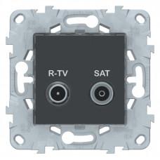 Unica New Антрацит Розетка R-TV/SAT, оконечная | NU545554 | Schneider Electric