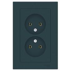 AtlasDesign Изумруд Розетка б/з двойная, 16А, (в сборе с рамкой) | ATN000820 | Schneider Electric