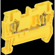 Клемма пружинная КПИ 2в-2,5 31А желтая   YZN11-002-K05   IEK