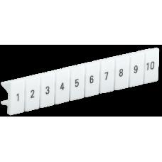 Маркеры для КПИ-4мм2 с нумерацией №№ 1-10   YZN11M-004-K00-10   IEK