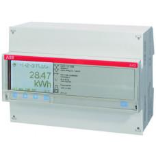 Счетчик 3-фазный акт-реакт.энергии(2Н),4-тарифн.c тарификатором,кл.точн.1,прямого вкл.5(80)А,2 вх/вых,RS485,тип A43 412-200 | 2CMA100115R1000 | ABB