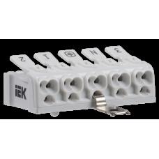 Клемма пружинная соединительная КСПнз5-3L+N+PE | UKZ-B06-5P-F1-E1-10 | IEK