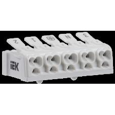 Клемма пружинная соединительная КСПн5-3L+N+PE | UKZ-B06-5P-F1-E0-10 | IEK