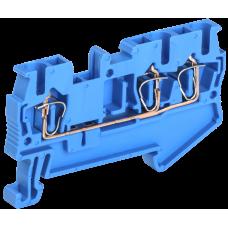 Клемма пружинная КПИ 3в-2,5 3 вывода 31А синий   YZN11-3-002-K07   IEK