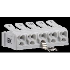 Клемма пружинная соединительная КСПз5-3L+N+PE | UKZ-B06-5P-F0-E1-10 | IEK