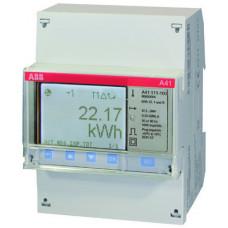 Счетчик 1-фазный активной энергии,1-тарифный,кл. точности 1,прямого вкл. 5(80)А, имп. выход,RS485,тип A41 112-200 | 2CMA100083R1000 | ABB