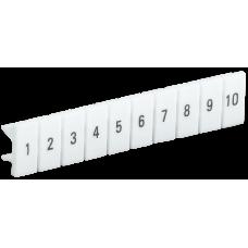 Маркеры для КПИ-2,5мм2 с нумерацией №№ 1-10   YZN11M-002-K00-10   IEK
