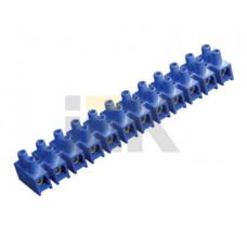 Зажим винтовой ЗВИ-10 н/г 2.5-6мм2 12пар синие | UZV6-010-06 | IEK