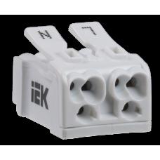 Клемма пружинная соединительная КСП2-L+N | UKZ-B06-2P-F0-E0-10 | IEK