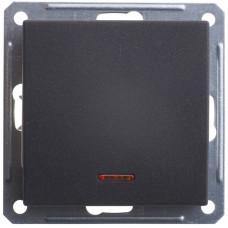 Wessen 59 Черный бархат Переключатель 1-клавишный с подсветкой 16А (сх.6) | VS616-157-6-86 | Schneider Electric
