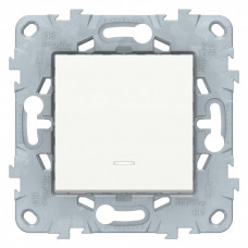 Unica New Белый Выключатель 1-клавишный, кнопочный, с подсветкой, сх. 1а, 10A   NU520618N   Schneider Electric