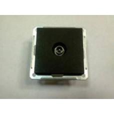 Wessen 59 Черный бархат Розетка TV оконечная | RTS-151-6-86 | Schneider Electric