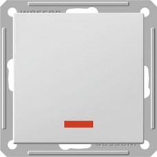 Wessen 59 Матовый хром Переключатель 1-клавишный с подсветкой 16А (сх.6) | VS616-157-5-86 | Schneider Electric